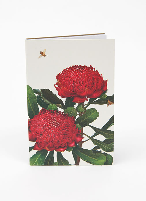 Bush Gems Notepad - Waratah