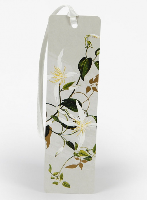 White Collection Bookmark - Clematis