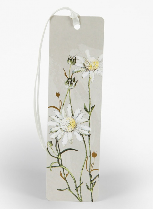 White Collection Bookmark - Flannel Flower