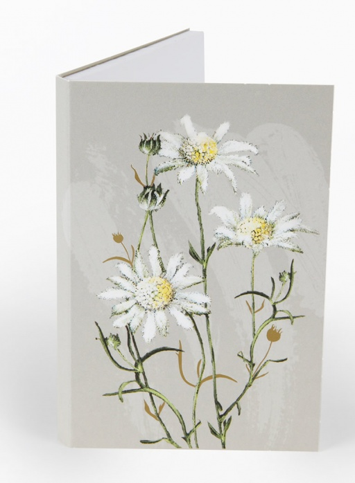 White Collection Notepad - Flannel Flower