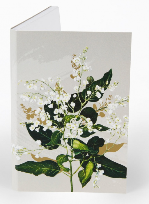 White Collection Notepad - Hardenbergia