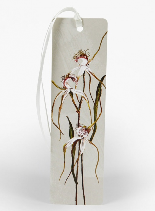White Collection Bookmark - Spider Orchid