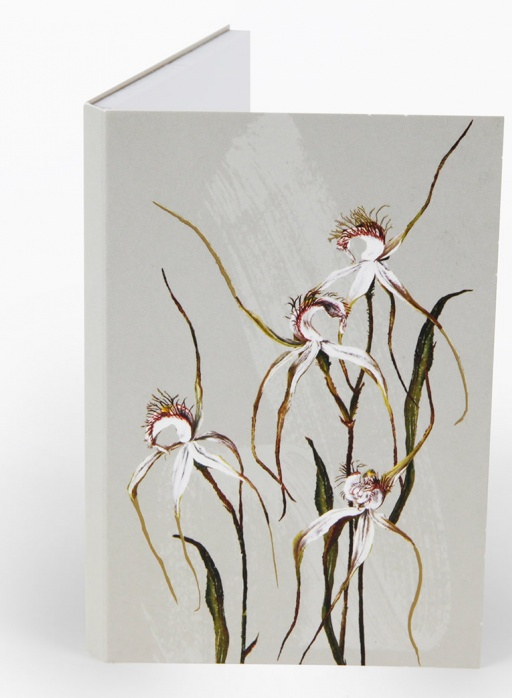 White Collection Notepad - Spider Orchid