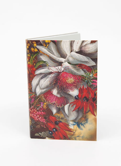 Wildflower Notepad - Crimson Gold